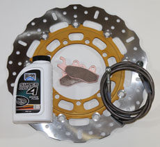 KLR 650 EBC OVERSIZED MASTER ROTOR KIT, 08-up
