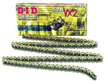 DR 650,  DID PROFESSIONAL VX X-CHAIN, 110 (STOCK) 96-UP