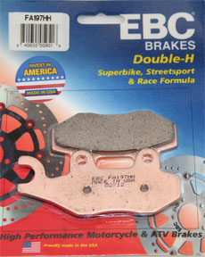 KLR 650 EBC REAR BRAKE PADS, 08-UP