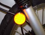 KLR 650 LIGHTED FRONT LED REFLECTORS, UP TO 07