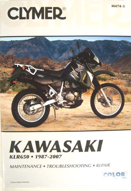 KLR 650, CLYMER SERVICE MANUAL, UP TO 07