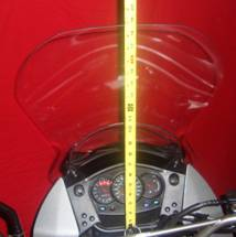 KLR 650 TPI CLEAR VIEW WINDSHIELD, STANDARD, 08-UP