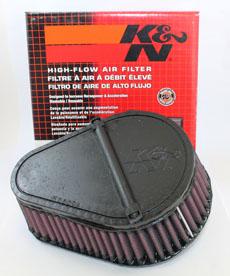 DR 650 K&N AIR FILTER, 96-UP