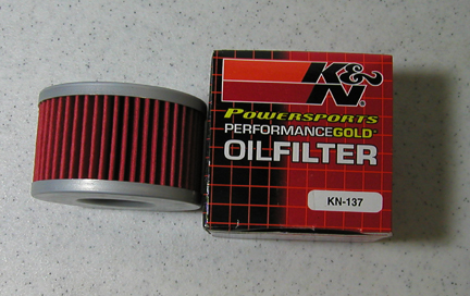DR 650 K&N OIL FILTER
