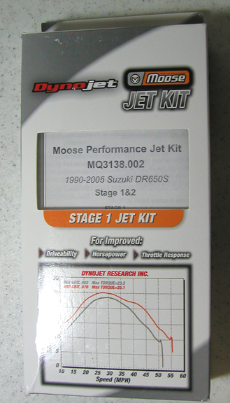 DR 650 SUZUKI  CARBURETOR STAGE I&II JET KIT