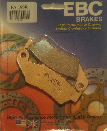 DR 650 SUZUKI EBC REAR BRAKE PADS, 96-UP
