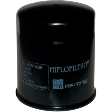 EVO HI-FLO OIL FILTER, BLACK