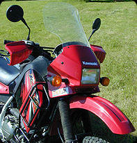KLR 650 TPI CLEAR VIEW 9'' OVER WINDSHIELD, UP TO 07